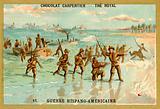American troops coming ashore, Spanish-American War, 1898