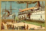 American troops boarding a ship, Spanish-American War, 1898
