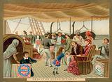 Deck of an ocean steamer