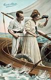 Love's Pilot, couple on sailing yacht