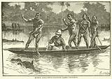 Speke circumnavigating Lake Victoria