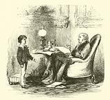 Robert Peel, at oratorical practice with his father