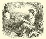 David Wilkie, the boy, studying from nature