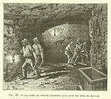 La Lampe De Surete D'Humphry Davy Dans Une Mine De Houille