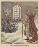Students of the University of Paris toasting Charlemagne