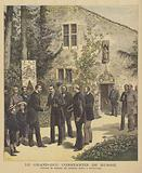 Grand Duke Konstantin of Russia visiting the house of Joan of Arc at Domremy