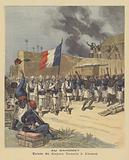 Entry of the French flag into Abomey, Dahomey