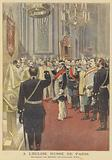Swearing the oath of loyalty to the new tsar in the Russian Church in Paris