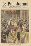 The coronation of Tsar Nicholas II and Tsarina Alexandra of Russia