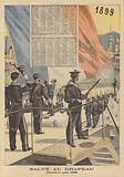 Salute to the flag. Calendar for 1899.