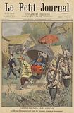 The Boxer Rebellion: Li Hongzhang being escorted by Russian and Japanese troops