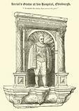 Heriot's Statue at his Hospital, Edinburgh