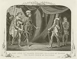 King John of France brought prisoner by Edward the Black Prince at Poictiers