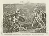 King Henry Vth defending his brother at the Battle of Agincourt