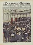 Riapertura del Parlamento, nella seduta, del 22 febbraio, 472 deputati acclamano all'esercito …
