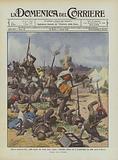 Guerra modernissima, arabi-turchi che fanno fuoco contro i dirigibili italiani che li bombardano …