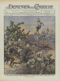 Le insidie della guerra italo-turca, beduini mandati a tagliare i fili telegrafici intorno …