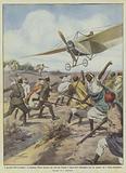 I pericoli dell'aviazione, il capitano Moizo durante un volo fra Tripoli e Zuara deve discendere …