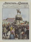 Gli Stati balcanici in armi contro la Turchia, incitamenti e dimostrazioni intorno alla statua …