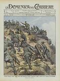 Un'altra avanzata a Derna, alpini costretti dalle asperita dei luoghi a trasportare a spalle …