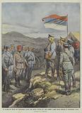 Il vecchio Re Nicola del Montenegro assiste alla prima vittoria de' suoi soldati i quali fecero …