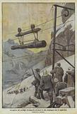 La guerra dei prodigi, il trasporto di pezzi in alta montagna, con le teleferiche