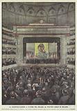 La Manifestazione A Favore Del Belgio Al Teatro Lirico Di Milano