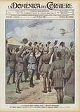 La consegna della military cross a Gabriele d'Annunzio