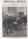 Il frutto della vittoria militare italiana, la firma della pace con l'Austria, nel Castello di Saint-Germain