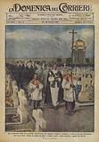 La cerimonia della benedizione delle tombe nel Cimitero militare italiano di Amras …