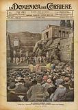 Un pittoresco spettacolo romano, Edipo Re di Sofocle, rappresentato nella grandiosa cornice del Palatino