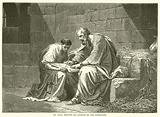 St Paul writing his epistle to the Ephesians