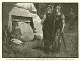 """""""So they went and made the sepulchre sure, sealing the stone, and setting a watch"""". St Matthew, xxvii, 66."""