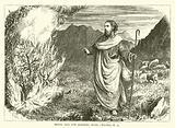 Moses and the burning Bush, Exodus, iii, 3