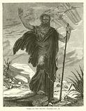 Moses on the Mount, Exodus, xxiv, 18
