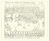 1849, British Grenadiers mounting guard at St James's Palace Yard