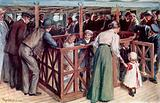 The children's sandpit between-decks on the SS Empress of Britain