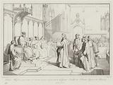 Dante Allighieri presentasi al senato siccome ambasciatore di Guido Novello di Polenta Signore di Ravenna, 1312