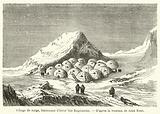 Village de neige, habitation d'hiver des Esquimaux