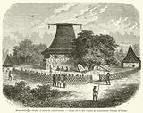 Mbure-kalou ou temple, et scene de cannibalisme