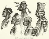 Coiffures des indigenes de l'Oujiji