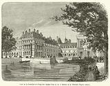 Cour de la Fontaine et etang des Carpes