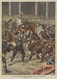 Fuga di leoni e leonesse da un circo ad Odessa durante le prove dello spettacolo
