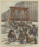 Il crollo del ponte Egiziano sul fiume Fontanka a Pietroburgo, mentre passava la cavalleria