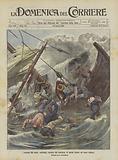 I drammi del mare, naufragio, causato dal monsone, di operai italiani nel mare Indiano