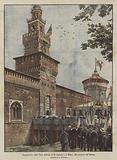 Inaugurazione della Torre dedicata al Re Umberto l, a Milano, alla presenza dei Sovrani