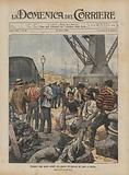 Sciopero degli operai addetti allo scarico del carbone nel porto di Savona