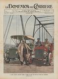 Il grande inventore americano Edison in viaggio di prova col nuovo suo motore per automobile