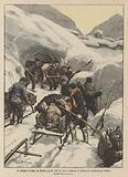 Un villaggio francese nei Pirenei sepolto sotto la neve, l'apertura di gallerie per soccorrere gli abitanti