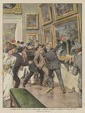 La perdita di un'opera d'arte, un vandalo taglia e rovina per stupidita un capolavoro al museo del Louvre